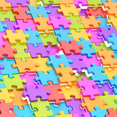 Abstract puzzle background composition