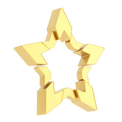 Abstract segmented star isolated