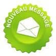 nouveau message sur bouton web denté vert