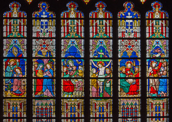 Bruges - New Testament scenes - in St. Salvator's Cathedral