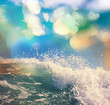 canvas print picture - Wave