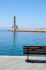 chania's lighthouse, Crete, Greece