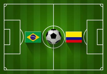 BRASILIEN vs. KOLUMBIEN Fußball