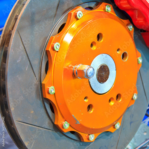 Leinwanddruck Bild New brake disc