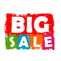 big sale drawn label