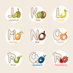 fruit alphabet