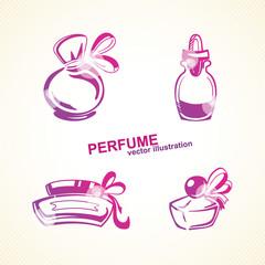 Perfumery set.