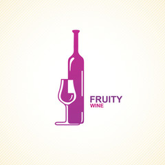 Stylized wine icon.
