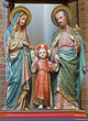 Bruges - Carved satues of Holy Family in st. Giles church