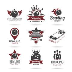 Bowling icon set - 3