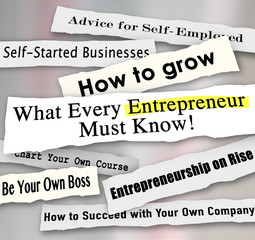 Entrepreneur Headlines Torn from Paper What Every Business Perso