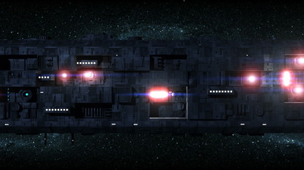 Large Space Ship Motion Background 2
