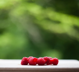 Raspberry on the desk
