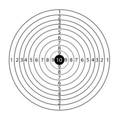 Paper rifle target