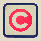 Retro look London congestion charge sign poster