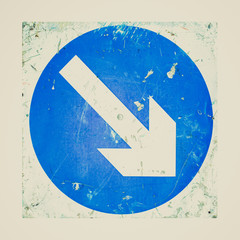 Retro look Arrow sign