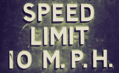Retro look Speed limit sign