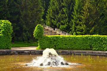 Fountains in Peterhof. Saint Petersburg, Russia