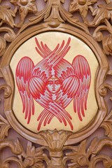 Bruges - cherub on the iconostasis in orthodox church