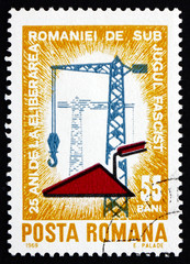 Postage stamp Romania 1969 Construction Work
