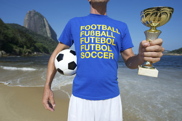 International Soccer Football Player Ipanema Rio