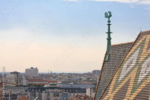 View of Vienna with St. Stephen's Cathedral. Austria