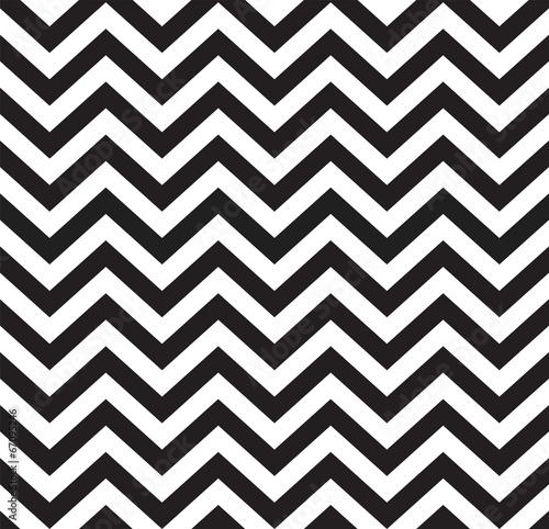 Geometric zigzag seamless pattern - 67095246