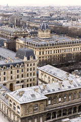 Aerial View of Paris. Traditional View
