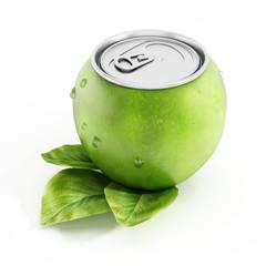 Fresh green apple juice