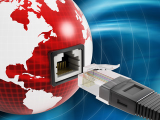 Global network with a network socket on the globe