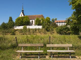 Basel, Bettingen, St. Chrischona, Kirche, Zweisamkeit, Schweiz