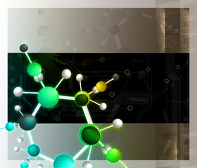 Digital illustration of molecules