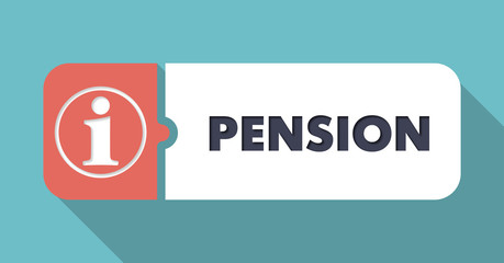Pension Concept in Flat Design.