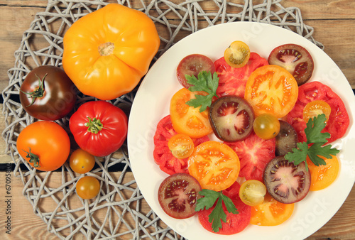 canvas print picture colorful tomato