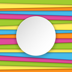 Colorful striped background with place for text