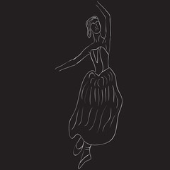 Silhouette of dancer