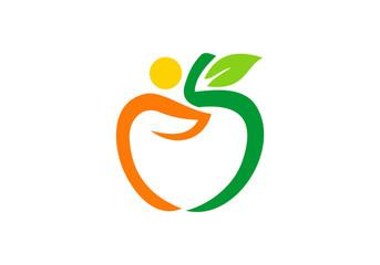 apple fruit abstract logo