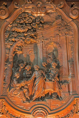 Mechelen - Carving of the Multiplying Food in Janskerk