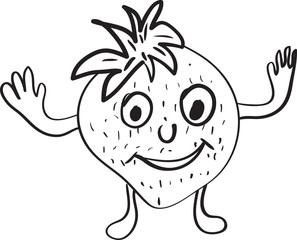strawberry cartoon sketch
