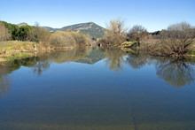 Guadiana River as it passes by Luciana, Ciudad Real.