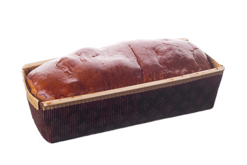 Sweet bread in disposable package