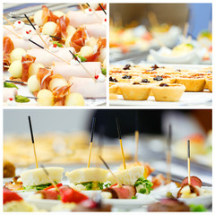 Catering Buffet Collage