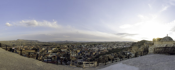 Panoramic view on the cappadocia