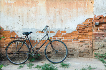 old bicycle old wall