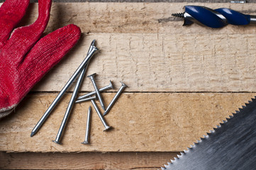 Tools on wood