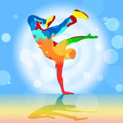 Break Dancer Indicates Disco Dancing And Breakdancer