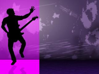 Guitar Copyspace Indicates Sound Track And Audio