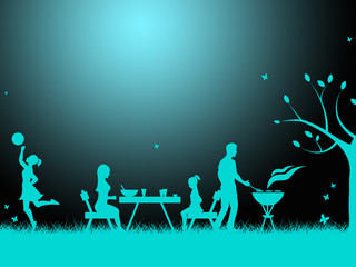 Bbq Copyspace Shows Grilled Meat And Barbeque