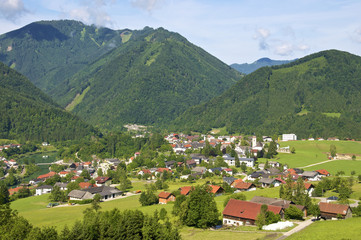 Panorama view to the Village Großraming in Upper Austria