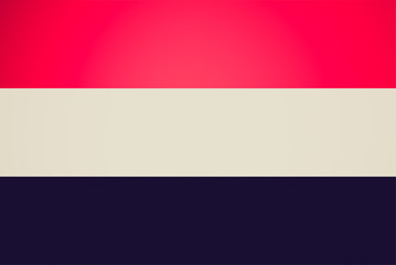 Retro look National flag of Yemen